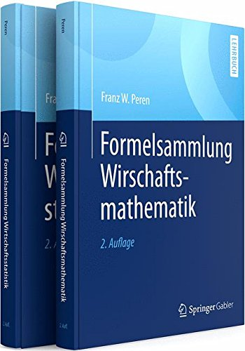 Formelsammlungen Wirtschaftsmathematik und -statistik