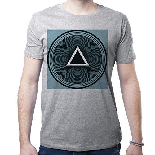 Illuminati Triangle Art Majestic Wall Round Many Circles Herren T-Shirt Grau