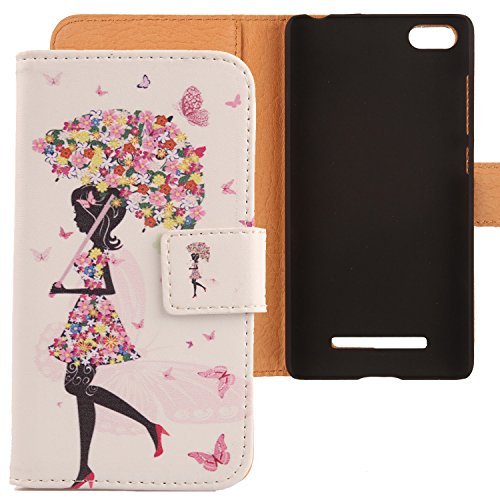 Lankashi PU Flip Leder Tasche Hülle Case Cover Schutz Handy Etui Skin Für XIAOMI MI 4i / Mi 4c 5