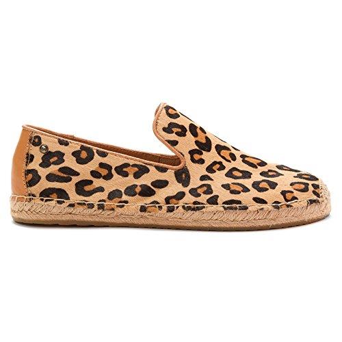 UGG Australia  Sandrinne Calf Hair, Chaussures de ville à lacets pour femme - marron - léopard, EU Léopard