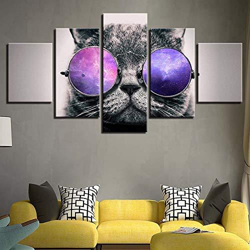 SUYUN pittura di Wulian Pittura di arte moderna decorazione domestica, Weiße untere Brille KatzeF
