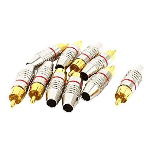 RCA Connecteur male - SODIAL(R)adaptateur Connecteur de cable coaxial audio fiche RCA male sans soudure 10 pieces