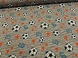 Generic Kinderstoff Fußball Baumwoll-Jersey 95% BW/5% EL je 50 cm