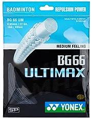 Yonex Ultimax BG 66 Badminton Strings, 0.65mm (Black)