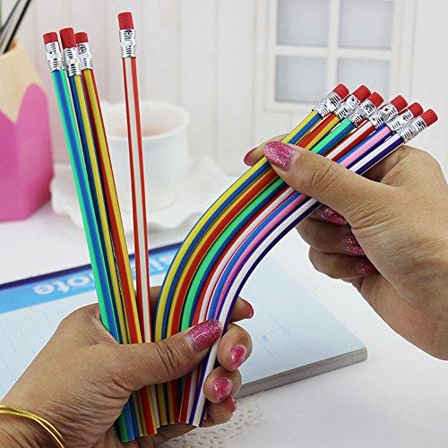Morbido astuccio 50pcs/set pieghevole e pieghevole magic non-broken scrittura penna schizzi flexible bendy colorati artists 'fun matite bambini bambini scuola gift toys