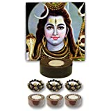 TYYC Home Decorative Candle Holders Diwali Gift Items Graceful Lord Shiva Tea Light Holder- Set Of 7