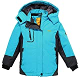 Wantdo Fille Anorak de Ski à Capuche Ski avec Doublure Imperméable Veste de Pluie...