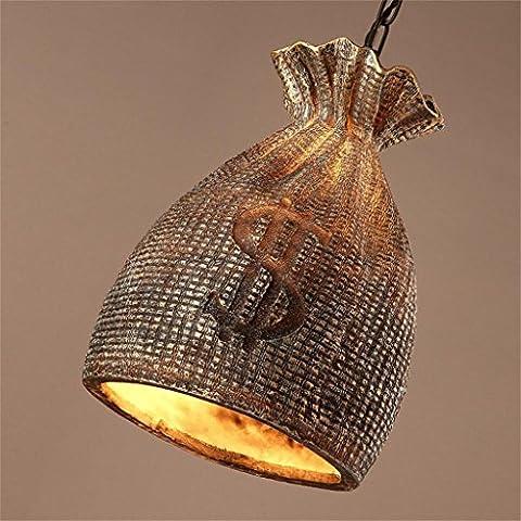 Creative Light-Creativo Ristorante Bar Cafe borsa resina progettazione di abbigliamento personalizzato negozio studio lampadario d'epoca