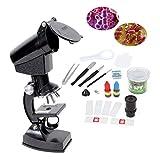 Rolanli 20Pcs 1200x Enfant Microscope Set Microscope des Petits Enfants Jouet...
