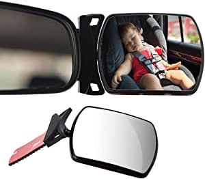 Lenskd Car Blind Spot Mirror Children Car Back Seat Baby Mirror 360 Degree Adjustable Car Engine Children Monitor Safety Car Rear View Mirror Küche Haushalt