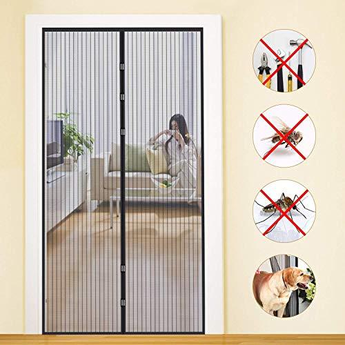 Zanzariera magnetica, schermo automatico della porta, dimensioni 100 x 210cm, resistente e traspirante, adatto per soggiorno, camera da letto, cucina, ecc