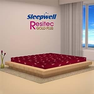 Sleepwell Resitec Gold Plus Mattress - (84 x 72 x 4.5 Inches, Maroon)