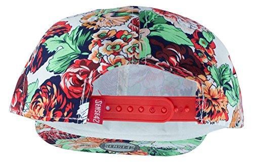 Sense42 - Casquette Snapback à motif FLORAL - style HIP-HOP - UNISEXE - taille unique et divers coloris au choix Design 7