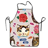 Best Home Styles Cat Foods - fengxutongxue Unisex Cute Cat Lock Edge Waterproof Durable Review