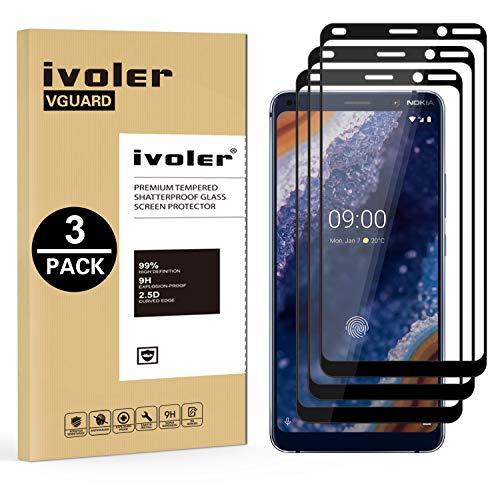 VGUARD [3 Pack] Pellicola Vetro Temperato per Nokia 9 PureView, [Copertura Completa] Pellicola Protettiva Protezione per Schermo per Nokia 9 PureView