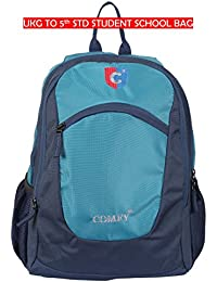 Trendy Students Style, Light Weight School Bag For Boys & Girls, It's Suitable For LKG To V Std Students. (Sea...