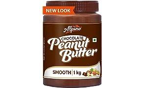 Alpino Chocolate Peanut Butter Smooth 1 KG (Gluten Free / Non-GMO / Vegan)