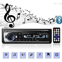 Andven Autoradio Bluetooth Auto Stereo Audio Ricevitore In-Dash Radio FM MP3 Player Aux SD Card USB con Telecomando