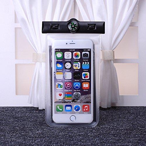 EKINHUI Case Cover wasserdichte handy mit kompass und sport armbinde transparente hohe empfindlichkeit für das iphone 6 65 plus se 5 s, samsung galaxy, lg, sony und anderen smartphone huawei ( Color : Clear