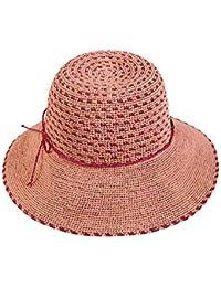 Cap HUO Caps Cappello da Paglia di Broadside Big Hat può Essere Piegato  Pieghevole e Confortevole Protezione da… 2fda39935f79