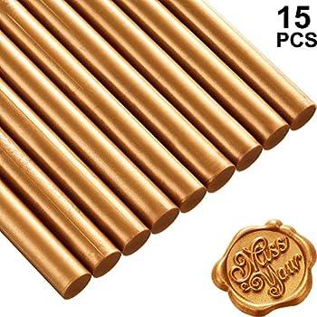 Xichen /® 10 VERSIEGELUNG-Hei/ßklebepistole Siegelwachs Siegellack Stangen Siegelwachs Siegel supplies verschiedenen Farben elfenbeinwei/ß