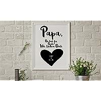 Personalisiertes Bild, Geschenk für Papa, Poster, Papa, Du bist der Beste, persönliches Geschenk, A4, hochwertiges Papier, Wandbild, Geschenk, Poster Spruch, Poster, Papi, Vati, Vater, Dad