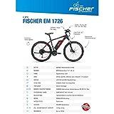 FISCHER E-Bike MTB EM 1726 (2019), schwarz matt, 27,5\'\', R...