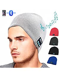 95feba0b8f1 HMILYDYK Winter Bluetooth Beanie V4.1 Wireless Knit Music Hat Removable  Headset Cap Built-