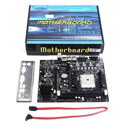 A55 Desktop (Erduo A55 Desktop Motherboard-Unterstützung für Gigabyte GA A55 S3P A55-S3P DDR3-Sockel FM1 Gigabit-Ethernet-Mainboard - Schwarz)