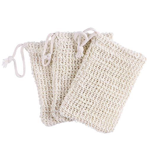 TOPBATHY OUNONA 3 Stücke Seifenschaum Net Peeling Bag Sack Seifenschoner Schäumen Beutel Für Bad und Dusche (Zufällige Farbe) - Peeling Net