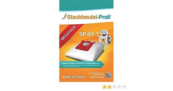 20 Staubsaugerbeutel SP49 geeignet für AEG VX8-1-ÖKO