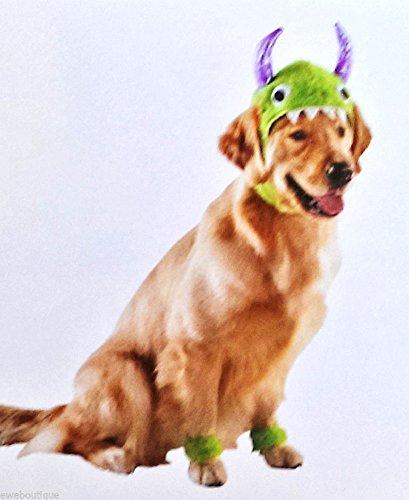Hunde Monster Kostüm Kopf + Füße Halloween Fasching Karneval Kostüm - Monster Fuß Kostüm