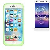 K-S-Trade Für Alcatel U5 HD Dual SIM Silikonbumper/Bumper aus TPU, Grün Schutzrahmen Schutzring Smartphone Case Hülle Schutzhülle für Alcatel U5 HD Dual SIM