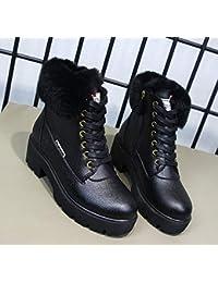 fa5634f83fe2c AGECC Botas de Nieve de Invierno para Mujer de Damas Zapatos de tacón  Grueso y algodón de tacón Alto Botas Martin En Invierno con Botas…