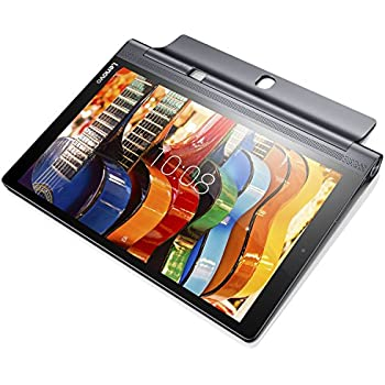 "Lenovo Yoga YT3-X90L Tablet con Display da 10.1"" IPS Multi-touch, Processore Intel Atom Z8550 4-CORE, RAM 4 GB, 64 GB HDD, LTE, S.O. Android 6.0, Nero Carbone"