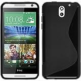 Coque en Silicone pour HTC Desire 610 - S-Style noir - Cover PhoneNatic Cubierta + films de protection