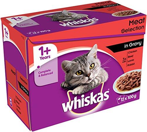 Whiskas Pouch 1+ carne selezione in salsa 12x g (confezione da 4)