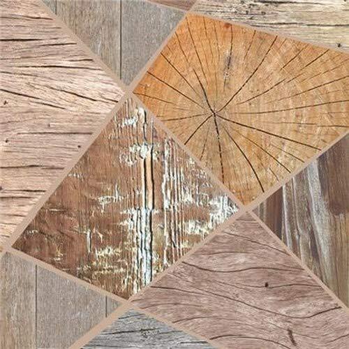 20 Servietten Holzarten mit Einer Collage aus Holz aus dem Wald und der Natur 33x33cm