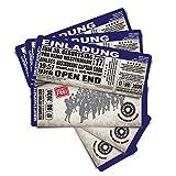 70 Einladungskarten als Konzertkarten - blau - Geburtstagskarten Geburtstagseinladungen Ticket Eintrittskarte