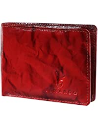 371f5b200eae Venardo Men s Classic Style Red Premuim Leather Wallets Purse Card Holder  Wallet