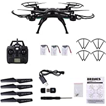 Cewaal Upgraded X5C-1 WIFI Drone con cámara HD video en vivo, tiempo de vuelo largo con 2 bono de batería Quadcopter Drones para niños
