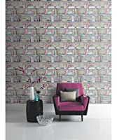 Arthouse Opera Curious Multi Wallpaper 694000 - Bookcase Book Shelf Love Hearts by Arthouse
