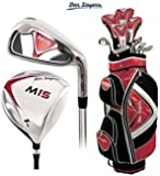 Ben Sayers M15 Complete Golf Club Set Cart Bag Mens New Graphite Shafted Woods and Steel Shafted Irons Head Covers + FREE Ben Sayers Golf Umbrella & Society Pack Worth £24.00