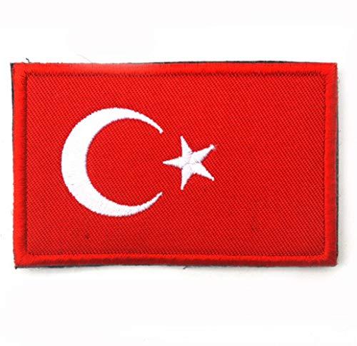 homker Flagge Stickerei Klettverschluss Armband Tuch Japan Japan Israel Türkei Klebrig Und Gebrauchsfertig,Truthahn,Einheitsgröße -