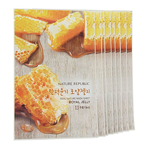Nature Republic Real Nature Mask 10 Sheets for Skin Hydration (Royal Jelly) by Nature Republic -