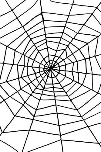 Smiffys Spinnennetz mit Spinne, Schwarz, One Size, 24610