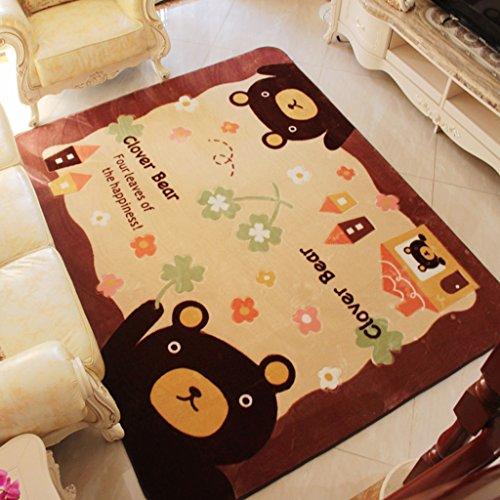 Lavabile in Lavatrice Salotto Tavolino Tappeto Camera dei Bambini Tappeto Tappeto di Cartone Animato Letto da Letto Carino Tappeto Tappeto da Arrampicata (Dimensioni : 185cm*185cm)