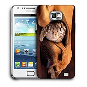 Snoogg Dog And Cat Designer Protective Back Case Cover For Samsung Galaxy S2