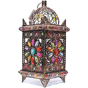 Moroccan style cutwork table lamp with acrylic beads stunning exclusive inspired styles moroccan colourful jeweled cutwork flower table lamp aloadofball Images