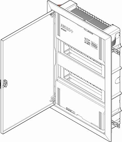 ABN Kleinverteiler AP24UP UP. mit Tür Installationskleinverteiler 4015153323292